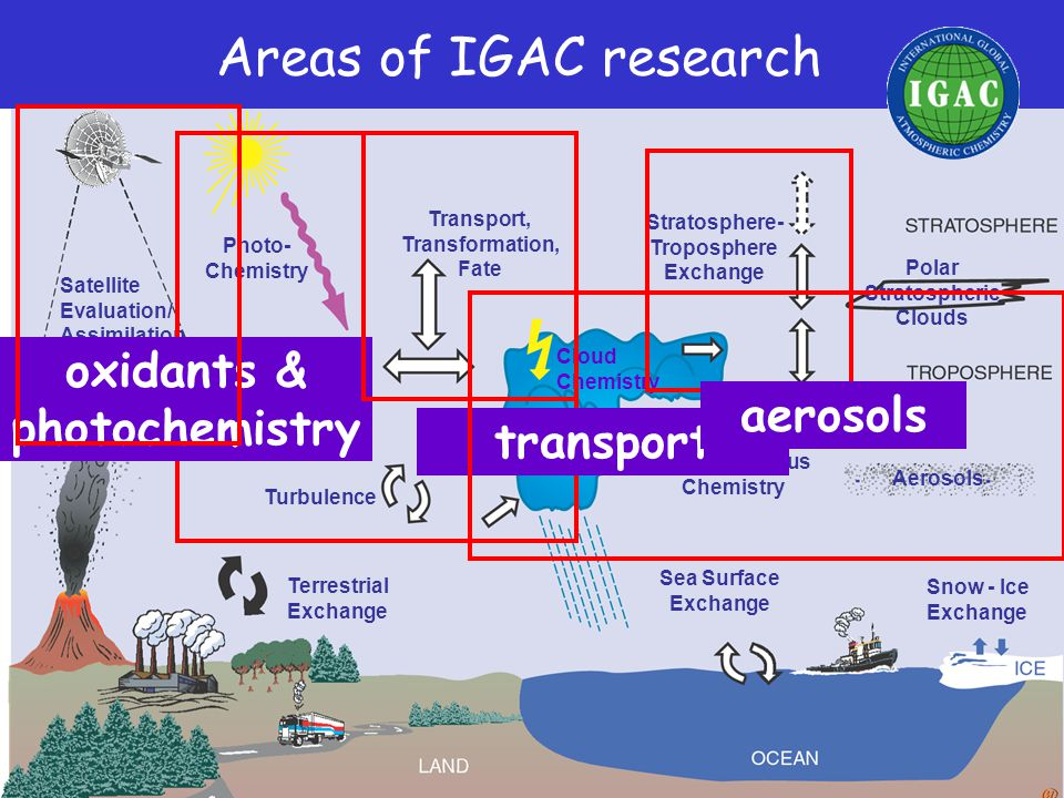 IGAC's Phase II: Scientific Directions for the Next Decade Implementation is through two main channels: TASKS 1.