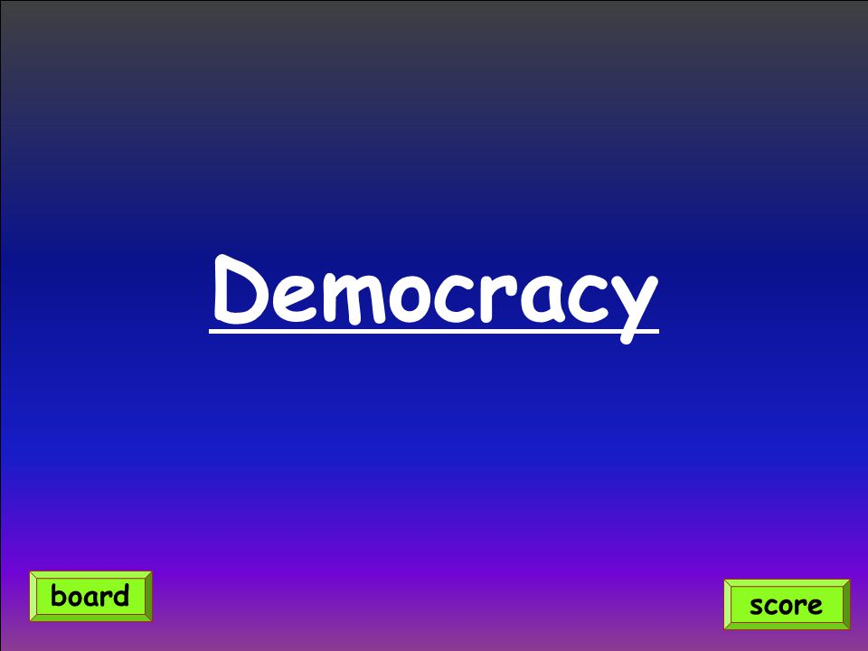 Democracy score board