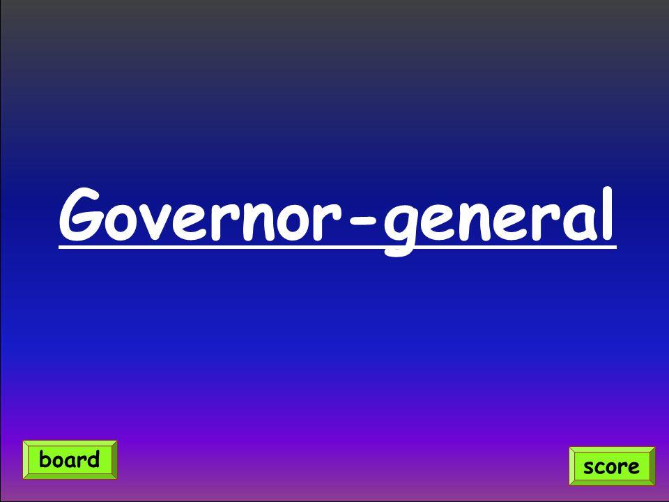 Governor-general score board