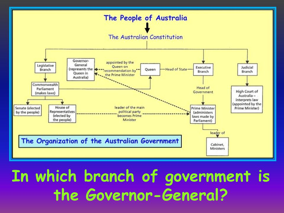 In which branch of government is the Governor-General