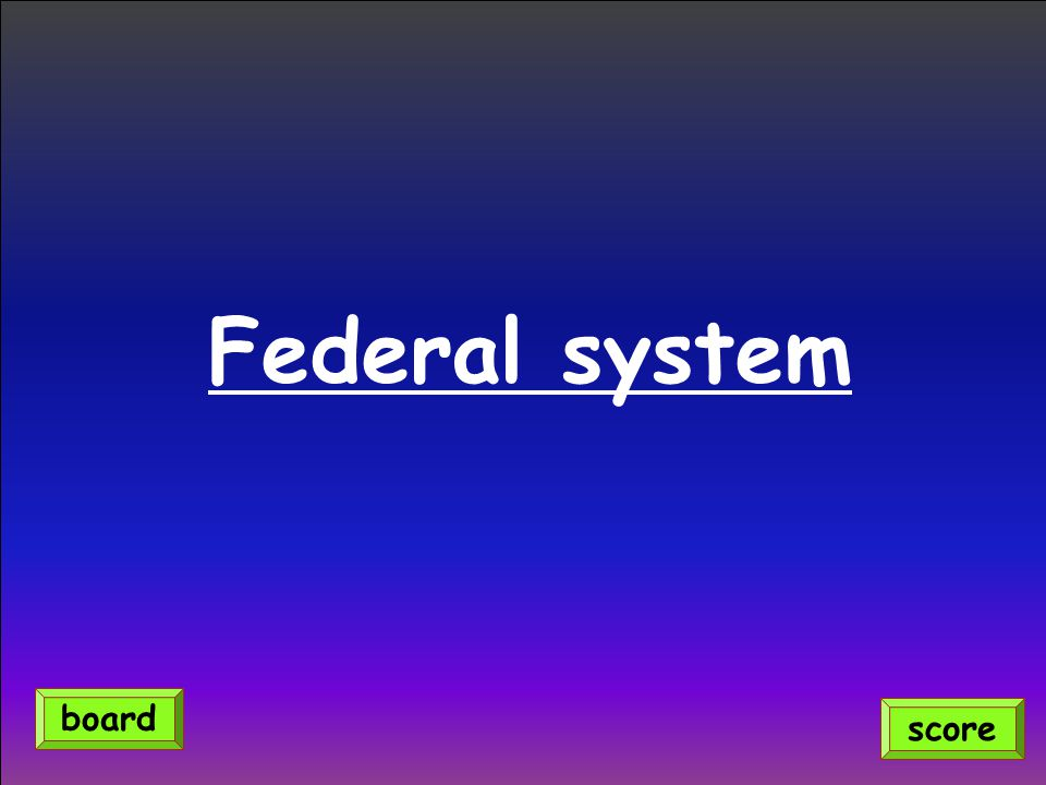 Federal system score board