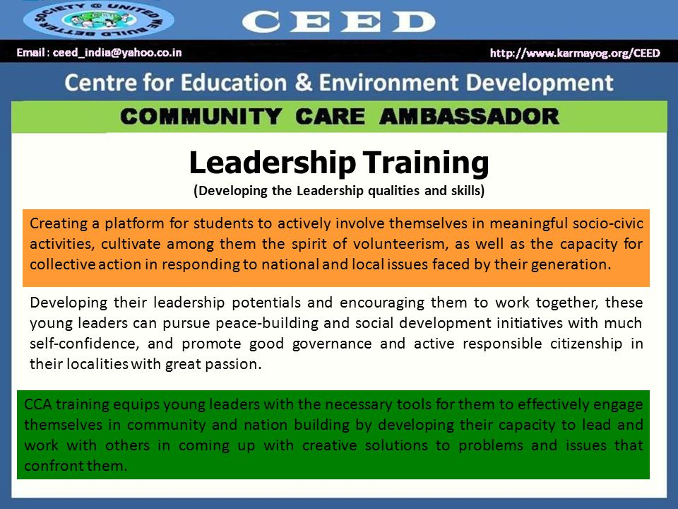 Asset Based Community Development & Participatory Learning Action Appreciating and mobilizing individual and community talents, skills and assets (rather than focusing on problems and needs), Community-driven development rather than development driven by external agencies, Community development (CD) is a broad term applied to the practices and academic disciplines of civic leaders, activists, involved citizens and professionals to improve various aspects of local communities.
