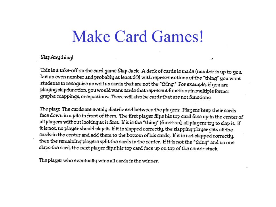 Make Card Games!