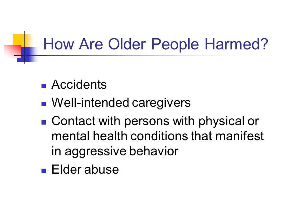 Why Does Elder Abuse Occur & Persist.