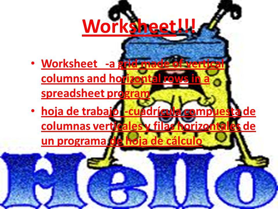 Worksheet!!.