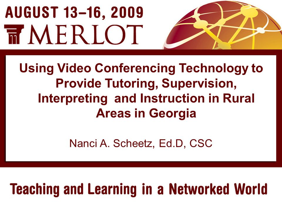 Using Video Conferencing Technology Fall, 2002 VSU began experimenting with video conferencing equipment to test the effectiveness of providing remote access interpreting to a Deaf college student enrolled in college preparation courses We wanted to determine if the equipment could be used in place of a traditional classroom interpreter