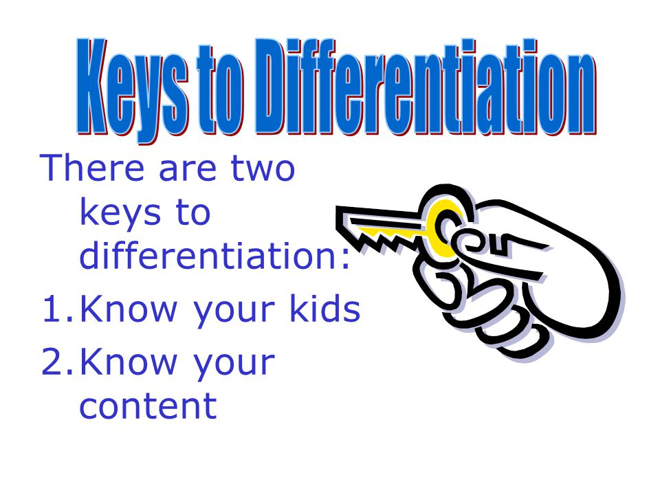 Key Principles of a Differentiated Classroom The teacher is clear about what matters in subject matter.The teacher is clear about what matters in subject matter.