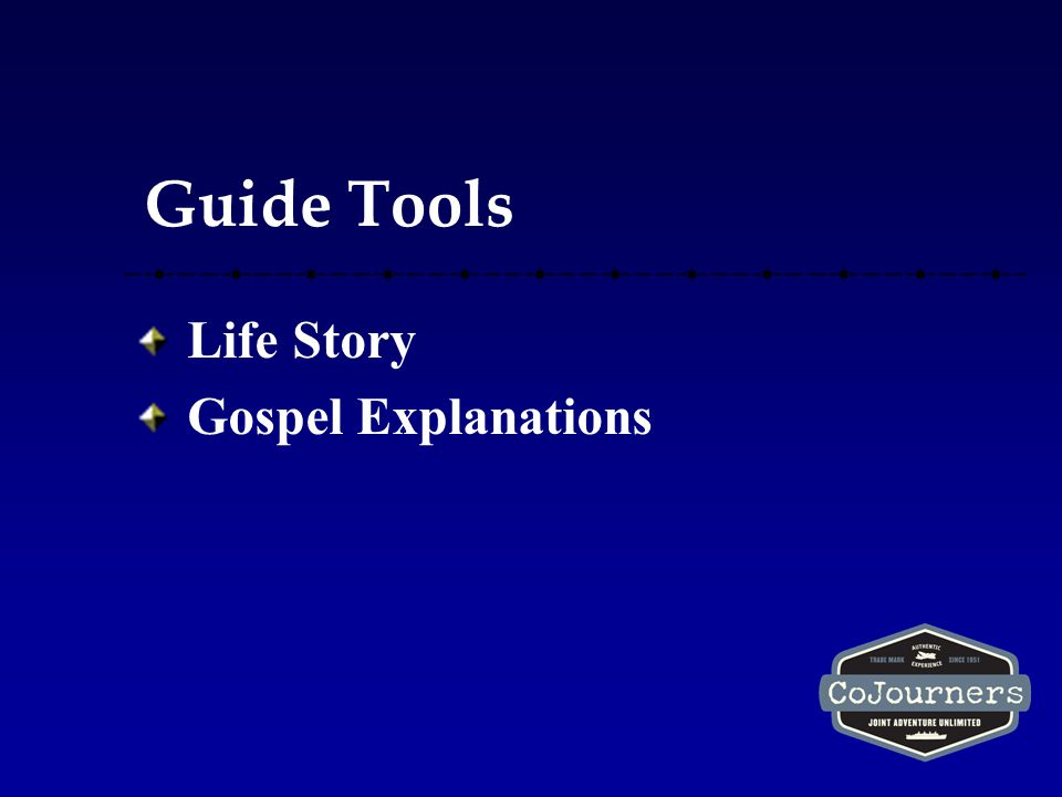 Guide Tools Life Story Gospel Explanations