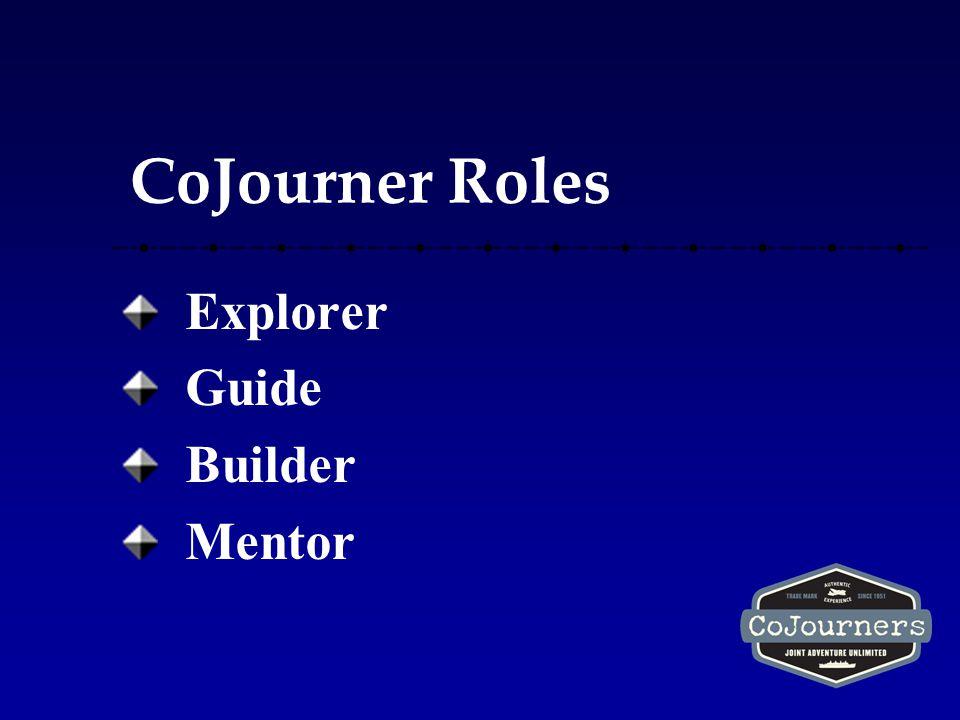 CoJourner Roles Explorer Guide Builder Mentor