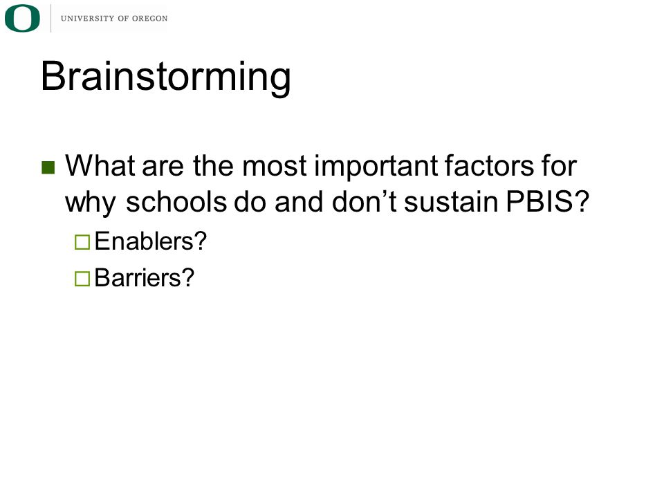 What are the most important factors for why schools do and don't sustain PBIS.