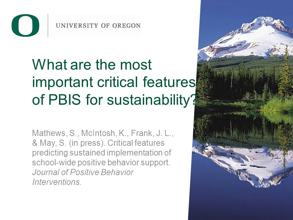 What are the most important critical features of PBIS for sustainability.