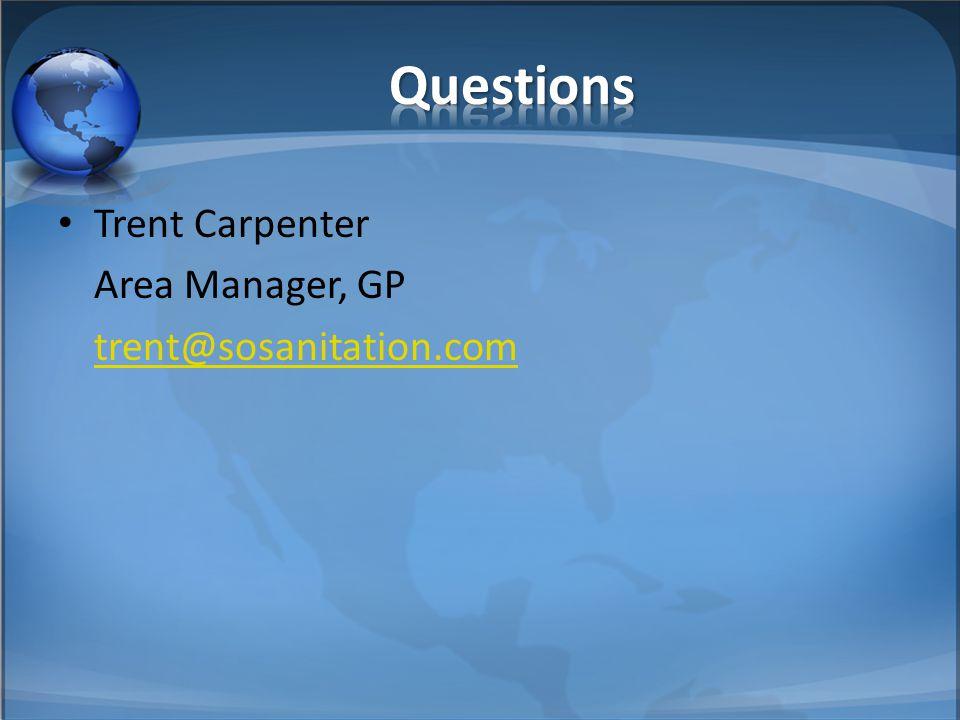 Trent Carpenter Area Manager, GP trent@sosanitation.com