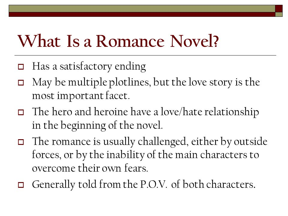 What Is a Romance Novel.
