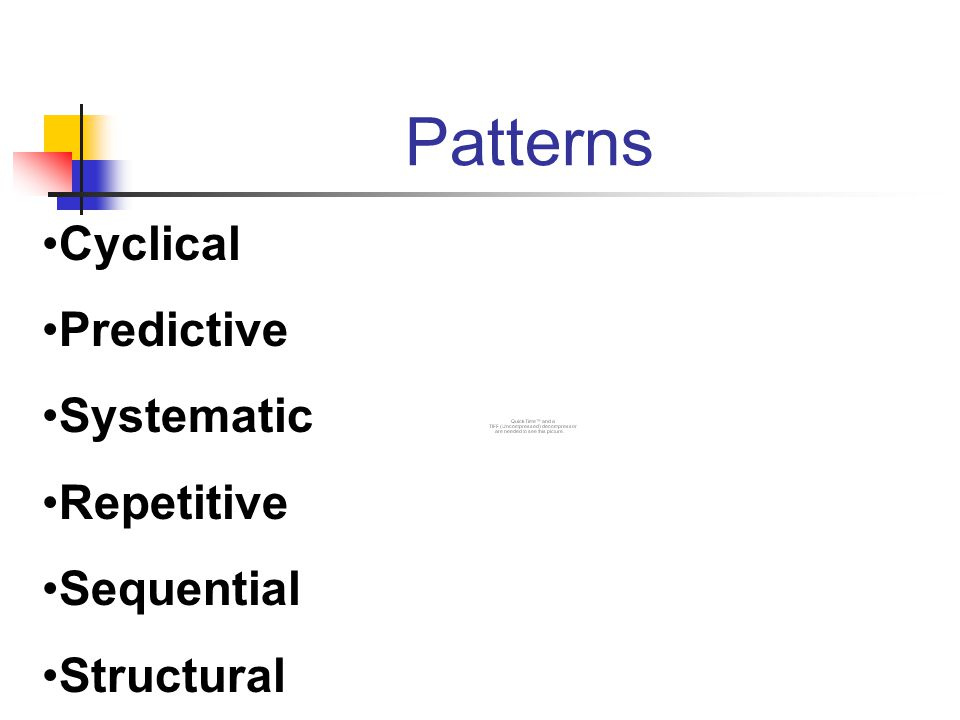 Patterns Cyclical Predictive Systematic Repetitive Sequential Structural