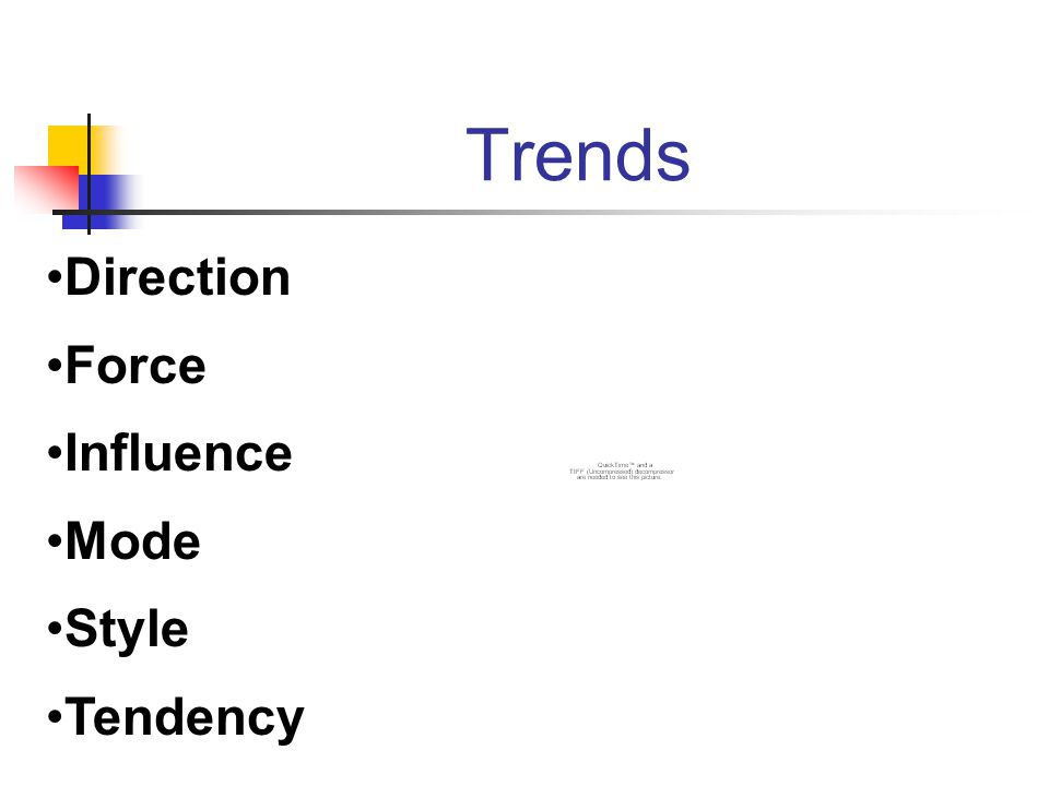 Trends Direction Force Influence Mode Style Tendency