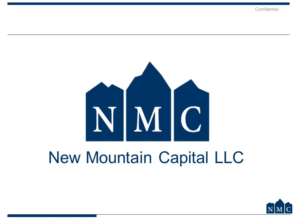 Confidential 14 New Mountain Capital LLC