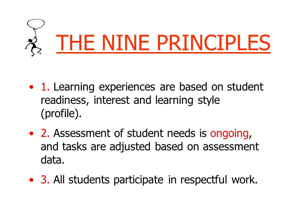 THE NINE PRINCIPLES 1.