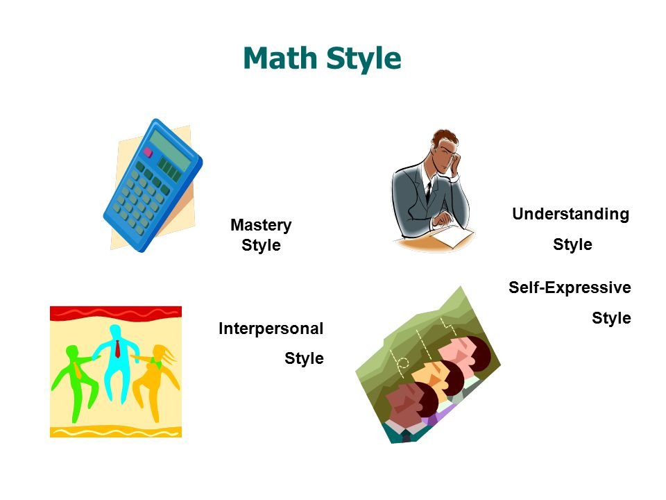 Math Style Self-Expressive Style Mastery Style Understanding Style Interpersonal Style