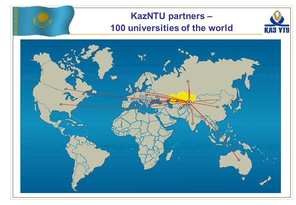 KazNTU partners – 100 universities of the world