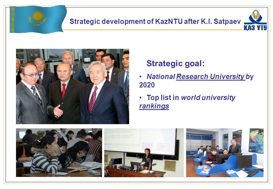 Strategic development of KazNTU after K.I.