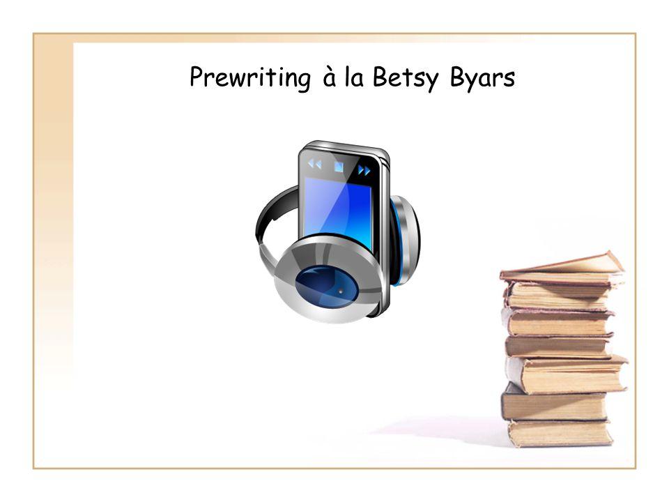Prewriting à la Betsy Byars