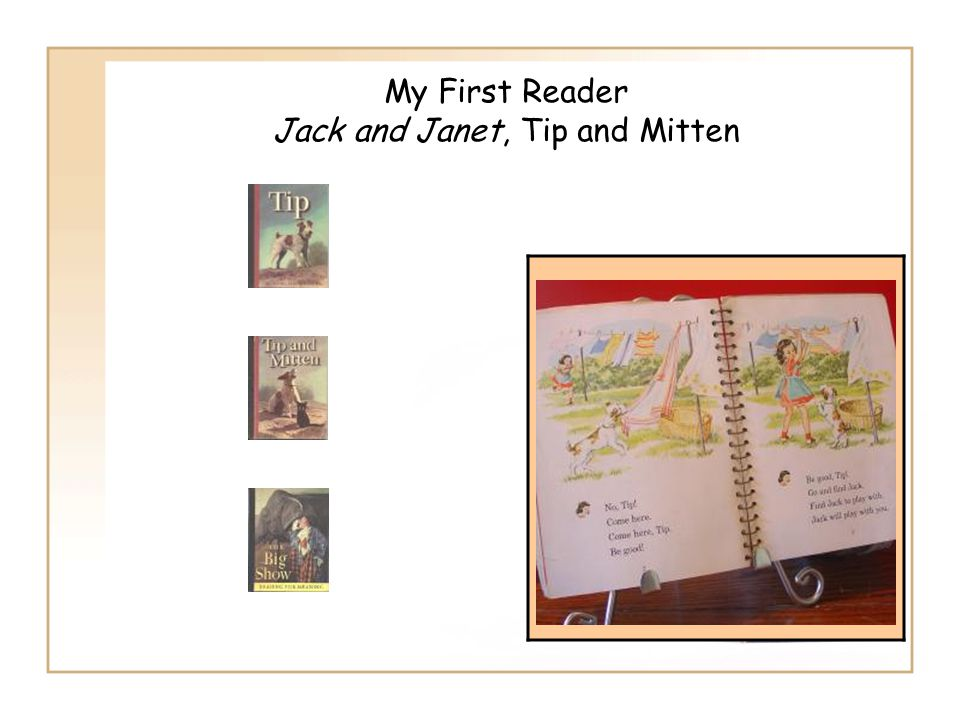 My First Reader Jack and Janet, Tip and Mitten