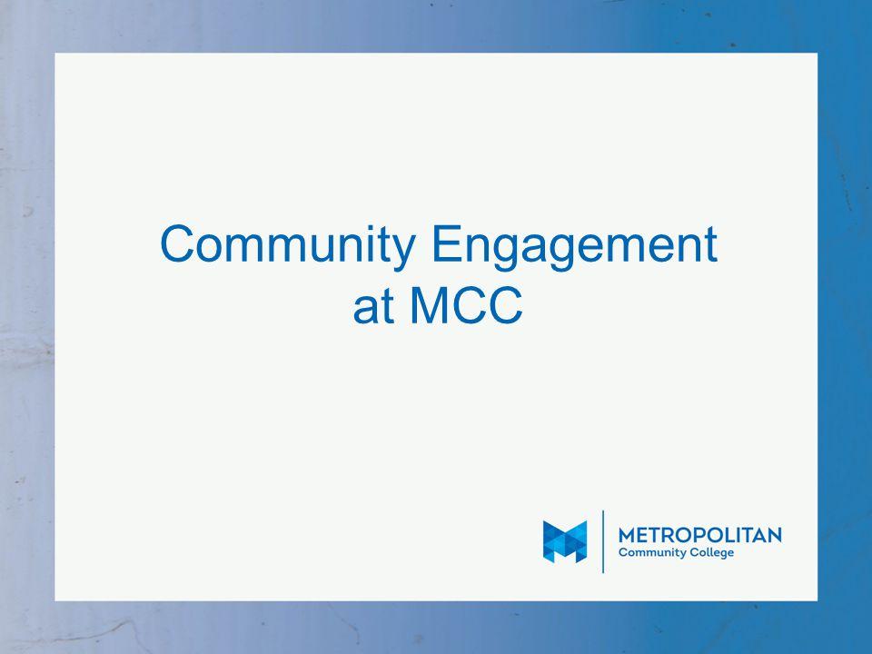 Community Engagement at MCC