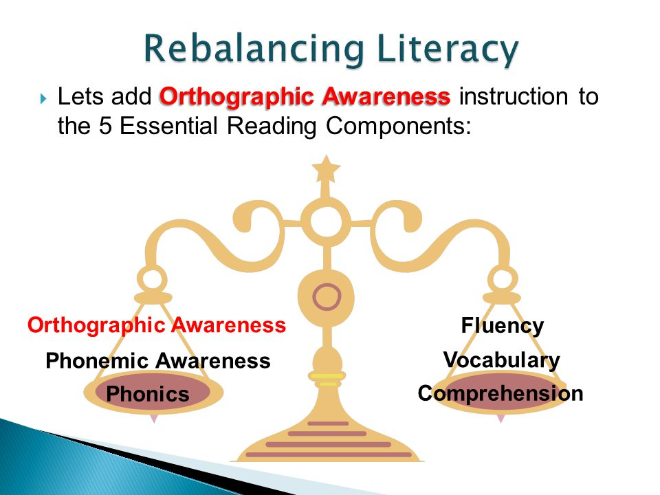  Dr. Virginia Berninger found that three cognitive processing weaknesses account for most LDs in literacy: orthographic phonological, & morphological