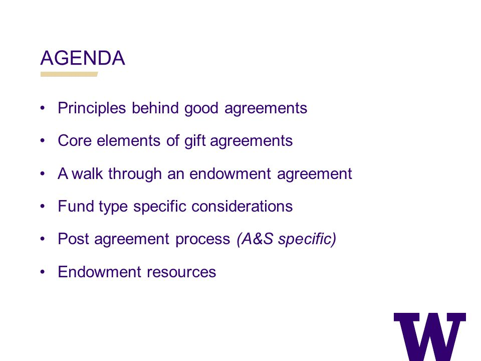 PRINCIPLES OF GOOD AGREEMENTS