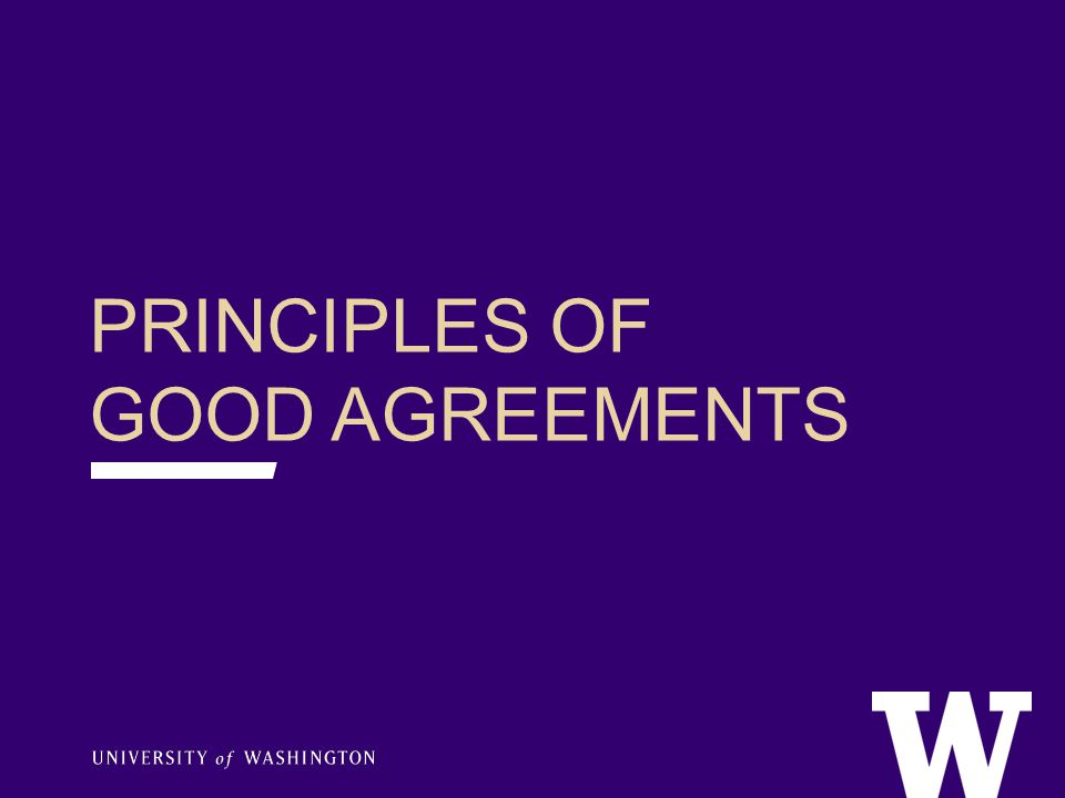PRINCIPLES BEHIND GOOD AGREEMENTS GOOD AGREEMENTS_______ Are as unrestricted as possible Meet donor expectations and desires Are realistic about department needs and abilities to meet expectations (…especially long-term) Comply with the law and University policies Written for the long-term (…in perpetuity) Provide alternatives if purpose becomes impractical or impossible over time (…fallback/amendment language) Capture donor motivation Relies on template language