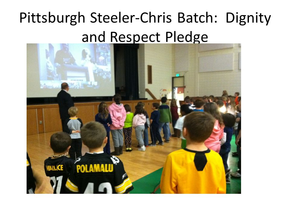 Pittsburgh Steeler-Chris Batch: Dignity and Respect Pledge