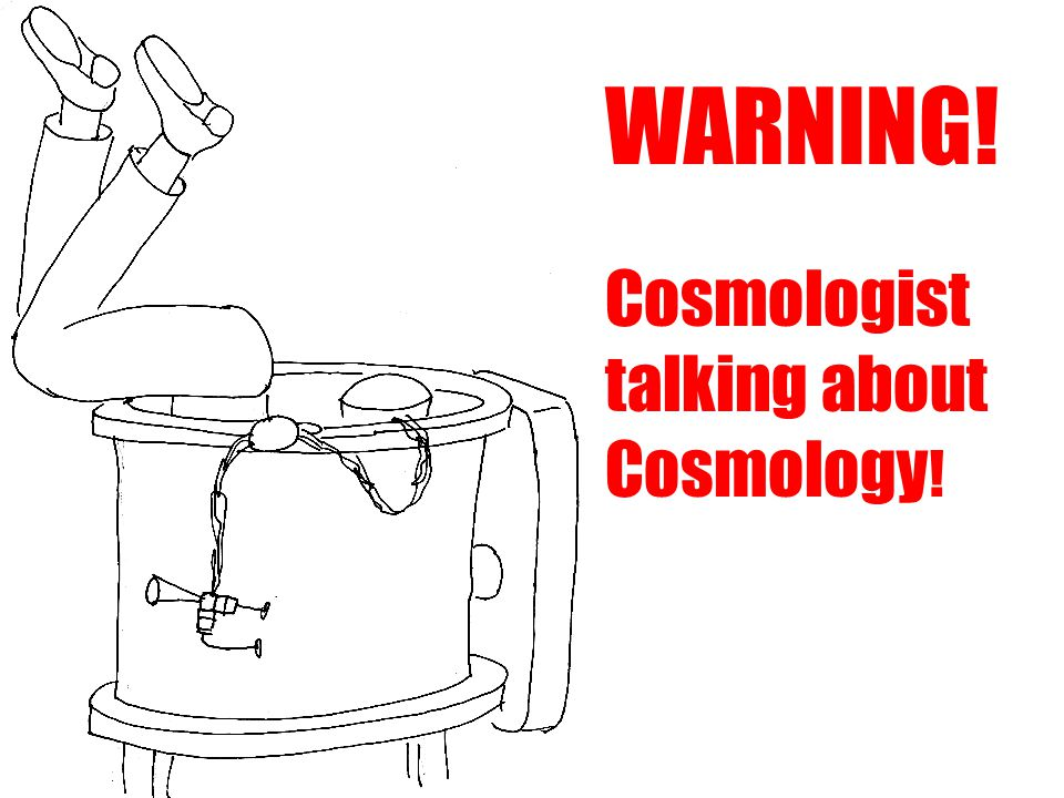 WARNING! Cosmologist talking about Cosmology !