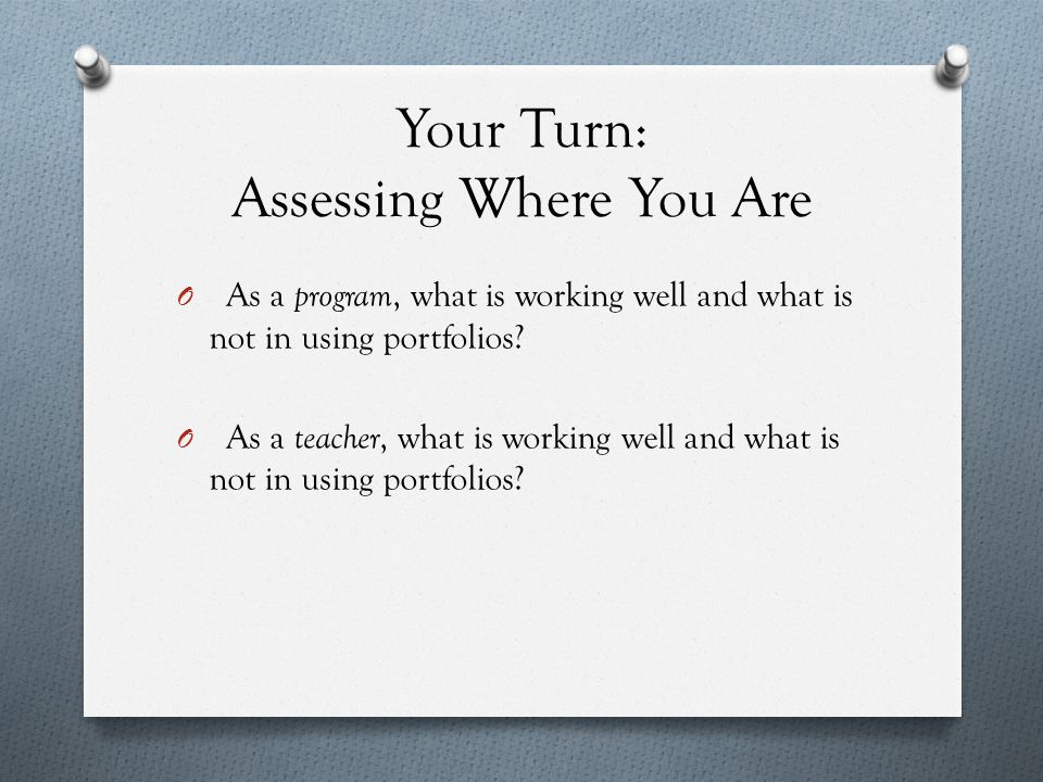 Your Turn Again O What do you do to provide time, ownership, and response.