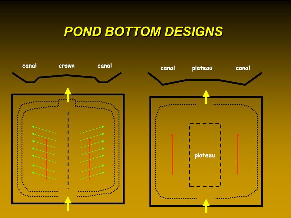 POND BOTTOM DESIGNS crowncanal plateau