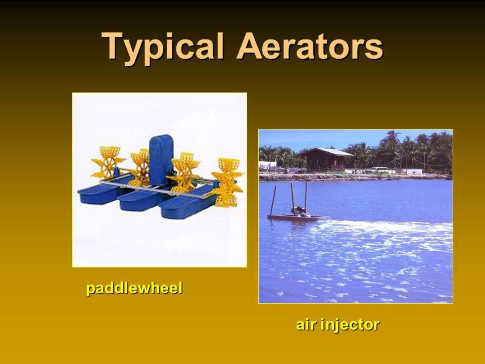 Typical Aerators air injector paddlewheel