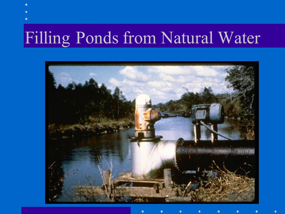 Filling Ponds from Natural Water