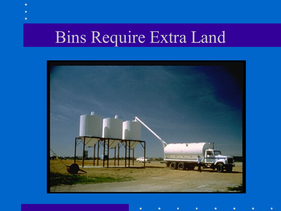 Bins Require Extra Land