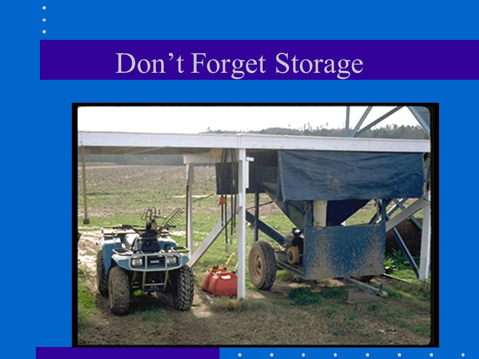 Don't Forget Storage