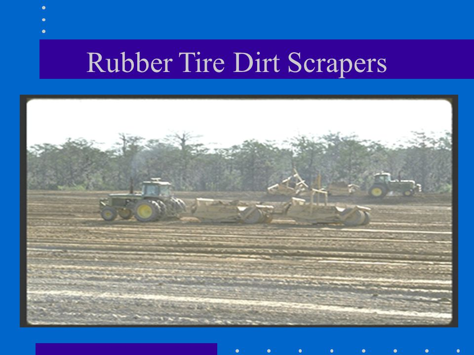 Rubber Tire Dirt Scrapers