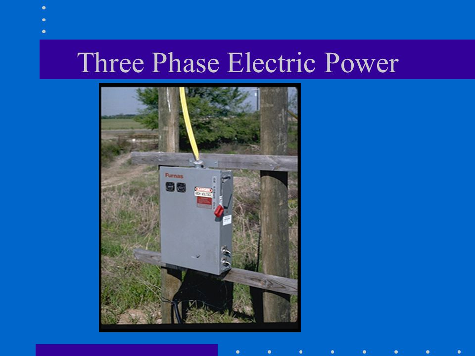 Three Phase Electric Power