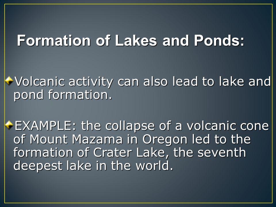 Types of ponds Cypress Ponds Bog Ponds Meadow-Stream Ponds Mountain Ponds Farm Ponds