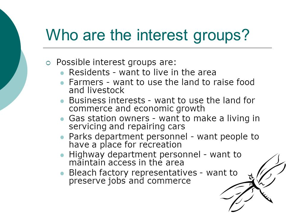 Who are the interest groups.