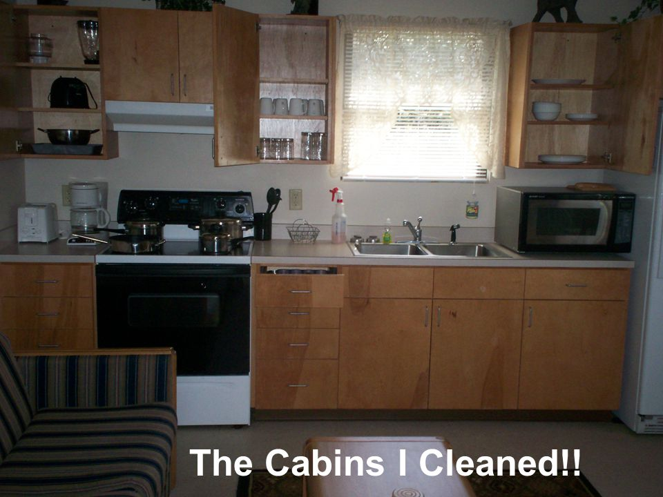 The Cabins I Cleaned!!