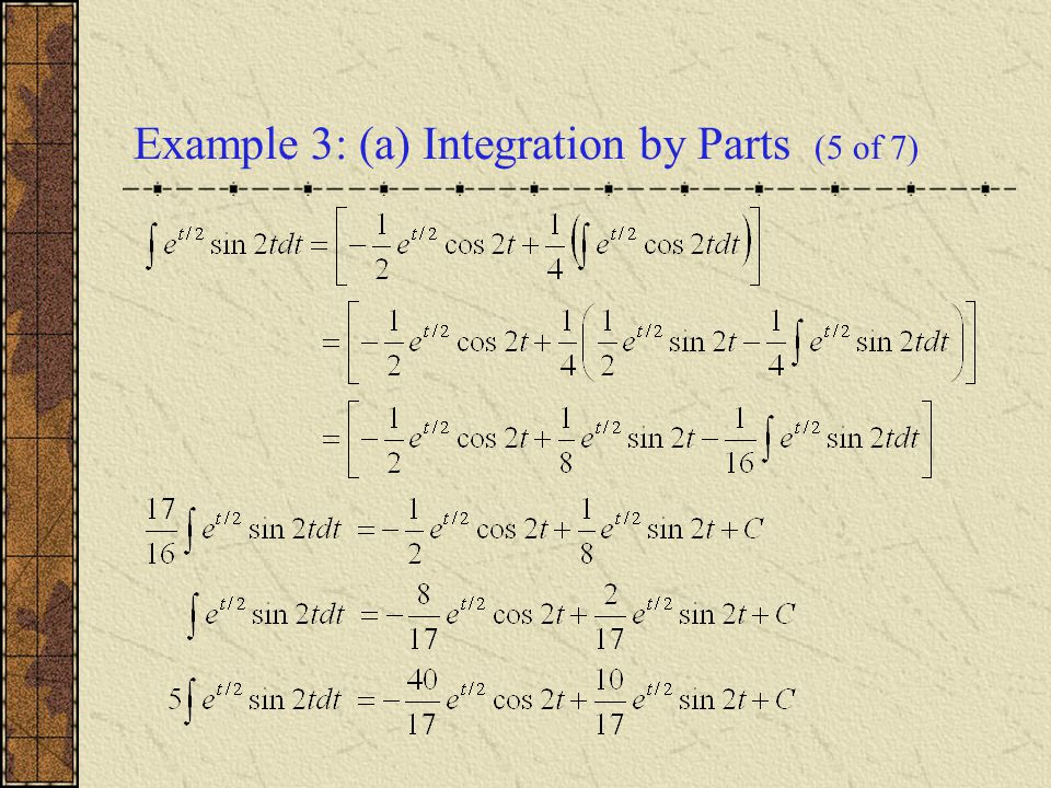 Example 3: (a) Integration by Parts (5 of 7)