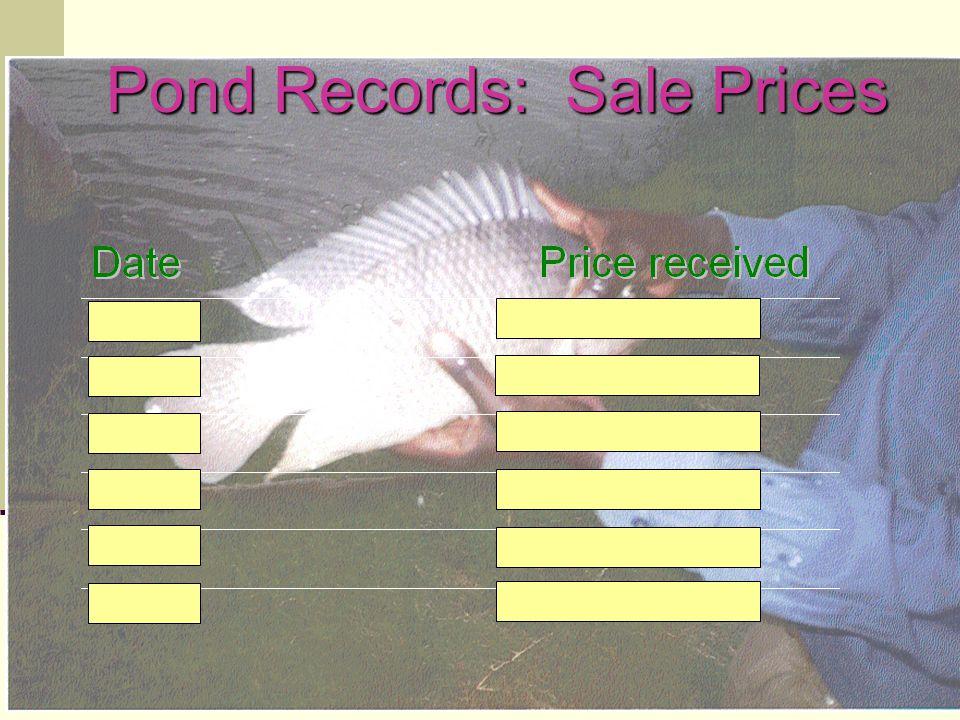 Pond Records: Sale Prices