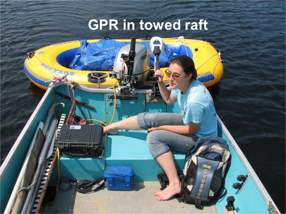 GPR in towed raft