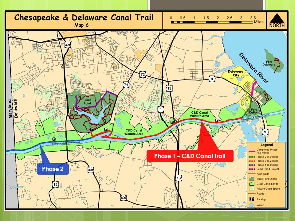 Phase 1 – C&D Canal Trail Phase 2