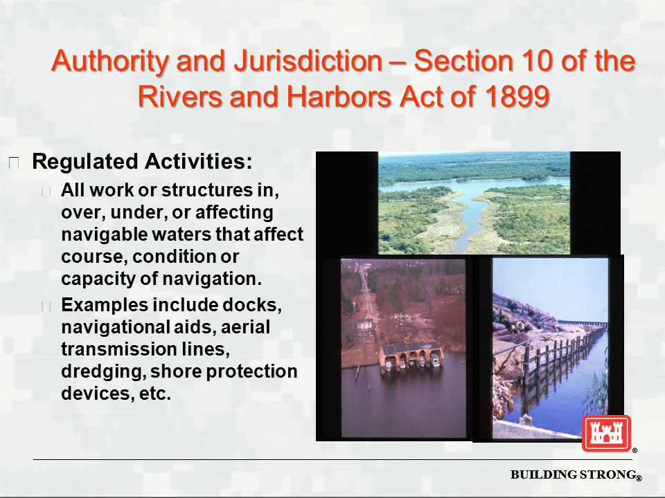 The Clean Water Act (1972) Section 101.(a) The objective of this Act is to restore and maintain the chemical, physical, and biological integrity of the Nation's waters.