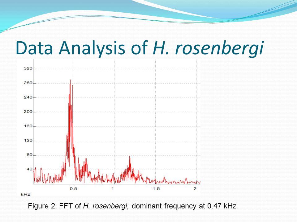 Data Analysis of H. rosenbergi Figure 2. FFT of H. rosenbergi, dominant frequency at 0.47 kHz
