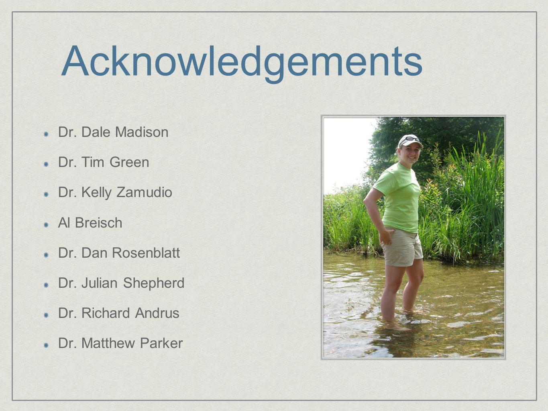 Acknowledgements Dr. Dale Madison Dr. Tim Green Dr.